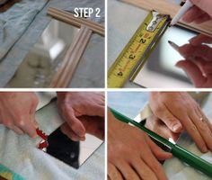 how to cut mirror