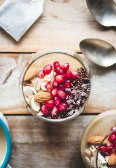 Chai Greek Yogurt Panna Cotta with Crunchy Mocha Quinoa | Butterlust Blog