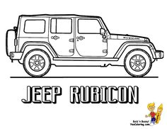 jeep coloring page | American Pickup Truck Coloring Sheet 01!