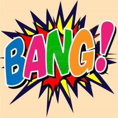 A Bang Comic Book Illustration Stock Photo