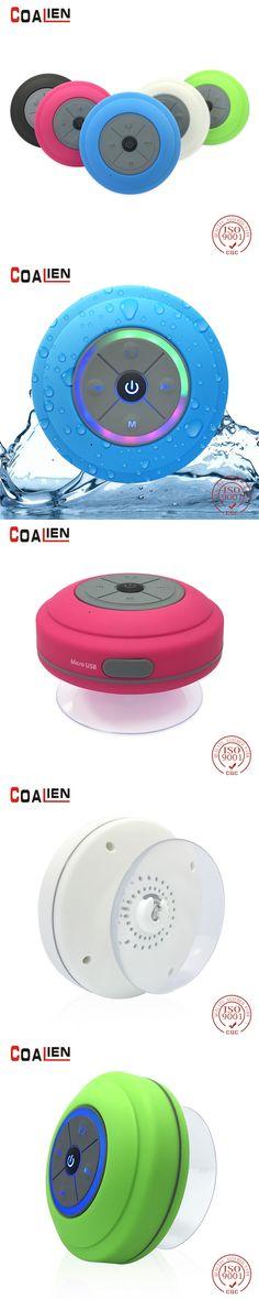 COALIEN Waterproof Bluetooth Speakers Mini Wireless Portable Hands-free TF Card FM Radio Subwoofer Audio LED Music Speakers