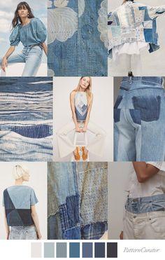 DENIM DAZED Pantone Color, Color Trends, Service Design, Color Inspiration, Print Patterns, Print Design, Skinny Jeans, Denim, How To Make