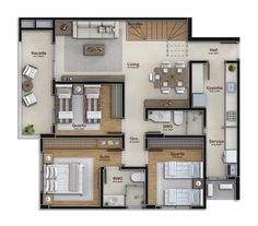 140 m² - cobertura duplex - pavimento inferior