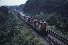 Canadian National    4127   with VIA #82 disabled  Hamilton (Bayview Jct.), ON  1983