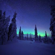 Northern Light above Riisitunturi in -40 degrees. Photo by Sven Začek /Wild Wonders of Europe