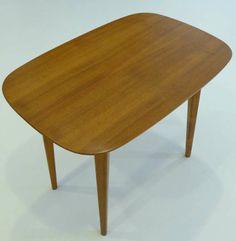 Elias Svedberg; #NK5 Elm and Birch Occasional Table by Nordiska Kompaniet for Knoll, c1948.