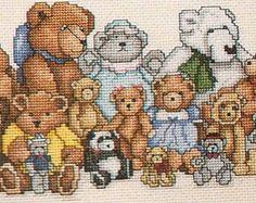 Leisure Arts Teddy Bear Reunion Counted Cross Stitch Pattern Chart Leaflet 918