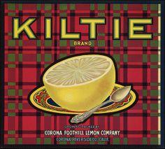 Kiltie Brand: Grown & packed by Corona Foothill Lemon Company, Corona, Riverside Co., Calif. by Boston Public Library, via Flickr