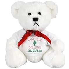 Baby Esmeralda 1st Cuddly Christmas Gift Small Plush Teddy Bear ** Read more reviews of the product by visiting the link on the image.
