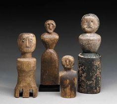 Wooden Folk Art Dolls