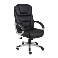 Boss Office Products Black Contemporary Executive Chair at Lowe's. Make your time at the office even more comfortable with this stunningly modern design. Our high back NTR chair is beautifully upholstered with Home Office Furniture, Cool Furniture, Paint Furniture, Wooden Furniture, Furniture Ideas, Furniture Design, Best Office Chair, Office Chairs, Desk Office