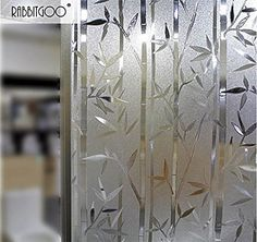 CottonColors Privacy Window Films No-Glue Static Decorative Frosted Window Cover Stickers Size 45 x Get The Look of Frosted Glass With Easy Do-it. ---Get The Look of Frosted Glass With Easy Do-it. Glass Partition Designs, Window Glass Design, Frosted Glass Design, Frosted Glass Window, Etched Glass Door, Stained Glass Windows, Glass Sticker Design, Glass Film Design, Etched Glass Windows