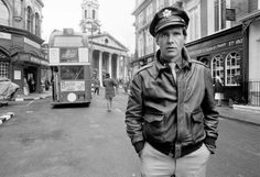 """Harrison Ford Hanover Street Photographed by Terry O'Neill.  American actor Harrison Ford on the set of the wartime drama 'Hanover Street', directed by Peter Hyams, London, 1979.  Limited Edition Silver Gelatin Signed and Numbered  12"""" x 16"""" / 16"""" x 20""""  20"""" x 24"""" / 20"""" x 30""""  24"""" x 34"""" / 30"""" x 40"""" / 40"""" x 60"""" / 48"""" x 72""""  For questions or prices please contact us info@igifa.com"""