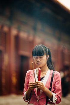 Prière au Temple de Yonghe