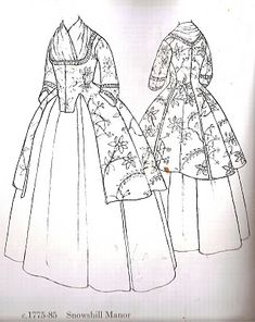 calico jacket and petticoat - Google Search