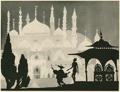 The Adventures of Prince Achmed (German: Die Abenteuer des Prinzen Achmed) is a 1926 German animated fairytale film by Lotte Reiniger. It is the oldest surviving animated feature film. Kalif Storch, Illusion, Doodle, Aladin, Shadow Theatre, Up Book, Shadow Puppets, Silhouette Art, Arabian Nights