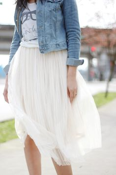 Our tulle skirt styled by Marisa of Style Rhapsody is the perfect mixture of sweet and sophisticated.