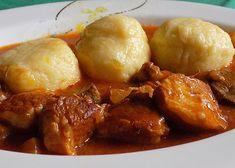 Slovácký guláš s játry recept - TopRecepty.cz Pork, Meat, Chicken, Ethnic Recipes, Kale Stir Fry, Pork Chops, Cubs