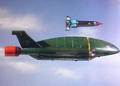 Thunderbird 2 type 5 - red front to engine - shorter 'stubby' nose - small asymmetric intakes