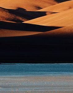 Bolivia, laguna verde.Desierto Salar de Uyuni
