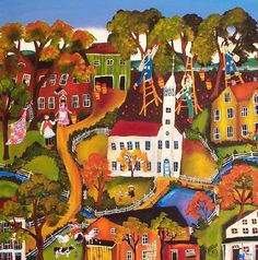 American Folk Art Museum Primitive Folk Art Painting