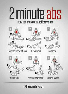 2 mins for your abs