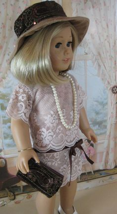 18 Inch Doll Clothes American Girl  1930s Lovely Lace Outfit on Etsy, $54.00