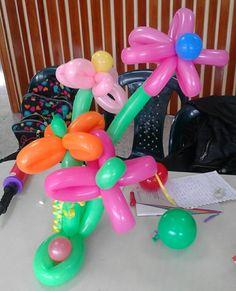 Flores con globos milfiguras
