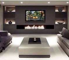 80 Ideas For Contemporary Living Room Designs - 2018 25 Best Modern Living Room Designs House Design, Interior Design, House Interior, House, Home, Trendy Living Rooms, Family Room, Contemporary Living Room, Home Decor
