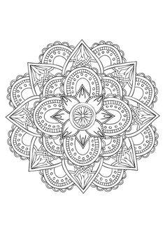 4 Mandala Line Art Illustrations Made For Coloring