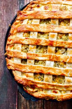 Easy as Cheesy Chicken, Green Chile and Potato Pie! Use turkey for your Thanksgiving leftovers!