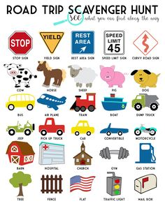 Road Trip Scavenger Hunt Free Printable