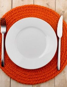 Iniduales hechos a ganchillo & Modern Neon Round Placemats set of 2 - Neon Tableware - Crochet ...