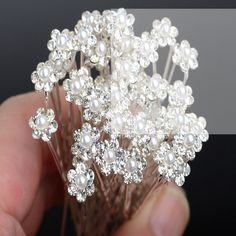 Hair Accessories Link http://www.aliexpress.com/store/product/Wholesale-40Pcs-lot-Wedding-Bridal-Clear-Crystal-Pearl-Hair-Pins-Hair-Accessories-Women-Jewelry/1504136_32255799669.html