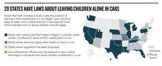 2014 TOP CHARTS :: 20 States Have Laws About Leaving Children Alone In Cars
