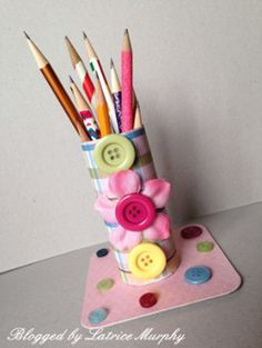 Reduce, Reuse, Recycle: How to Make Toilet Paper Pencil Holders - FaveCrafts