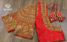 For customising your outfits - whatsapp 9133502232 Kerala Saree Blouse Designs, Wedding Saree Blouse Designs, Half Saree Designs, Fancy Blouse Designs, Blouse Neck Designs, Hand Work Blouse Design, Stylish Blouse Design, Designer Blouse Patterns, Blouses