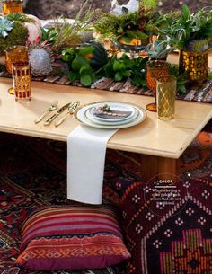 Bungalow Magazine featuring Birch & Brass Vintage Rentals on how to style a Thanksgiving table. Austin, TX.