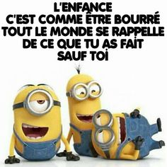 Les Minions - Expressions | textes | phrases - La Carterie Flavie Minion Humour, Kermit The Frog, Humor, Funny Cute, Haha, Jokes, Messages, Sad, Quotes