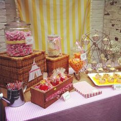 Vintage Carnival 1st Birthday- Girl | CatchMyParty.com