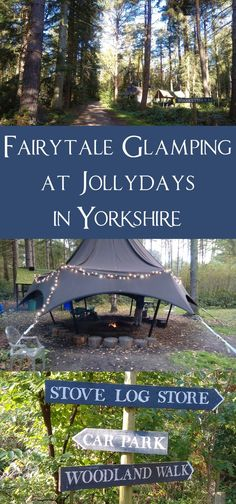A fabulous fairytale glamping site deep in the woods in Yorkshire.  Campfires, toasted marshmallows and fairy-lights.  A perfect back-to-nature getaway with the kids