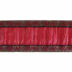 Wine Ruched Braid | Ribbon Braids | Ruched Braids | Trimmings