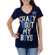 Dallas Cowboys Crazy Slub V-Neck Tee