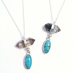 Turquoise and Tibetan Quartz Necklaces. Only 1 left in the Etsy shop and at a sale price!
