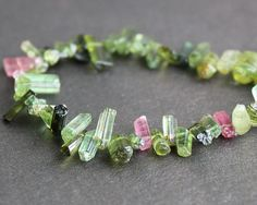 Tourmaline Crystals  612mm Gemstone Beads by SweetOliveSupplies, $30.00