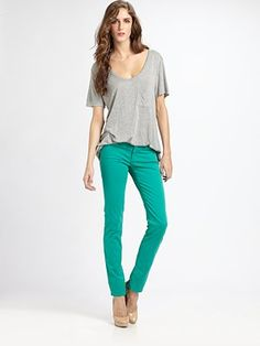 Summer mission: buy as many pairs of colored jeans as possible.