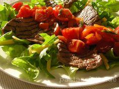 Salat mit Rinderfilet