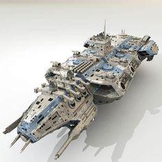 cdf starfall battleship 3d model max obj mtl 32