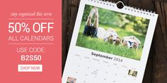 Stay Organised this term - 50% Off All Calendars #sale #backtoschool