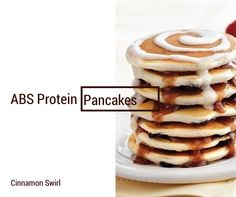 Cinnamon Swirl ABS Protein Pancakes! Order ABS Protein Pancakes Here: Facebook.com/absproteinpancakes  Over 30g protein, low carb, low sugar, high protein and under 250 calories for 4 pancakes!